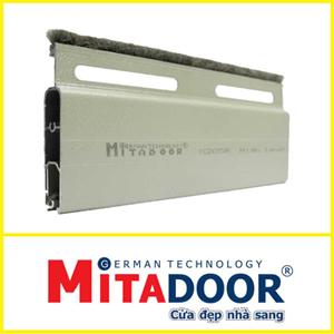 Cửa Cuốn Mitadoor X205r | 1.2-1.3mm | Lông Nheo Kép | 1,350,000đ/m2