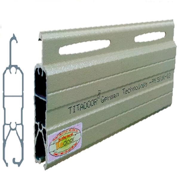 CỬA CUỐN TITADOOR PM501K   1.25-1.45mm   12,2kg   1,200,000đ/m2